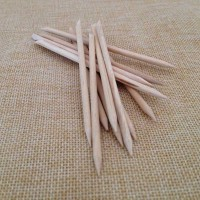 100pcs Nail Art Design Orange Wood Cuticle Sticks One end Spade and One end sharp point