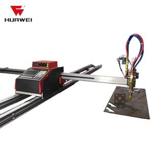 cnc cutting table gantry plasma oxyfuel type EHNC-1500W-J-3 could do flame gas for thick metal plate Chinese Huawei Price