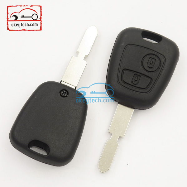 Good Price peuguot key shell for 406 blank 2 button no logo Car Key peugeot romote key case