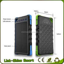 Waterproof Solar Power Bank 8000mah,smart portable mobile powerbank phone charger in shenzhen