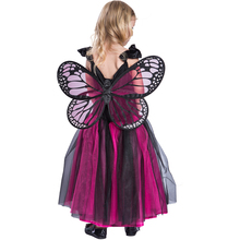 carnival party princess dress kids girls fairy butterfly costume with wings