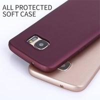 X-Level New Arrival Wine Red Flexible TPU All Protective Mobile Phone Case for Samsung S7 S7 Edge