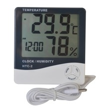 Amazon Hot Factory Price HTC-2 Digital indoor outdoor thermometer with hygrometer clock