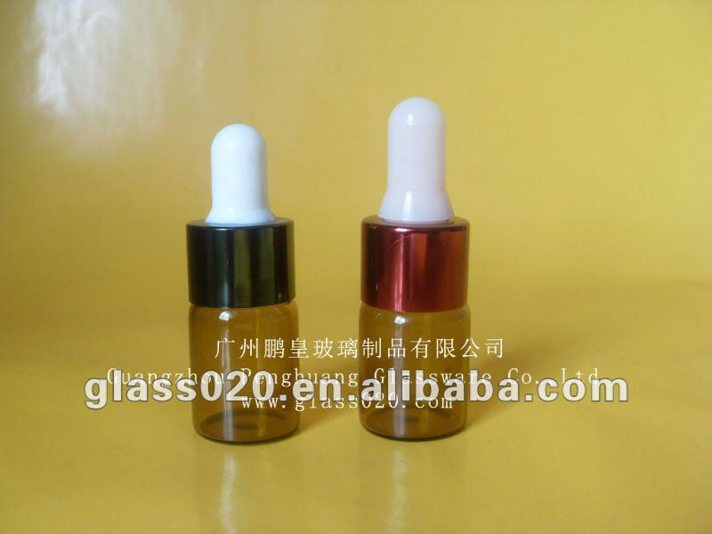 5ml amber glass essential oil bottles with rubber stopper