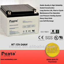 Solar energy storage battery/rechargable battery 12v 24ah