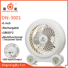 5 inch Super Lithium battery 18650 desk emergency Mini fan with USB charger