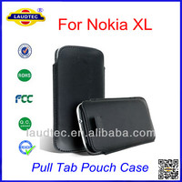 PU Pull Tab Pouch Leather Case for Nokia XL