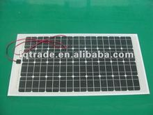 80W/18V Monocrystalline Flexible Solar Panel/Laminated with oxide aluminum+EVA+Silicon cells+2 layers EVA+Tedlar