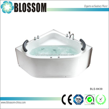 diamond shaped indoor whirlpool hydro air jets bath tubs