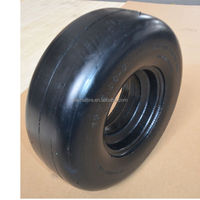 13 /5.00-6 semi solid rubber tire with smooth tread for zero turn mowers
