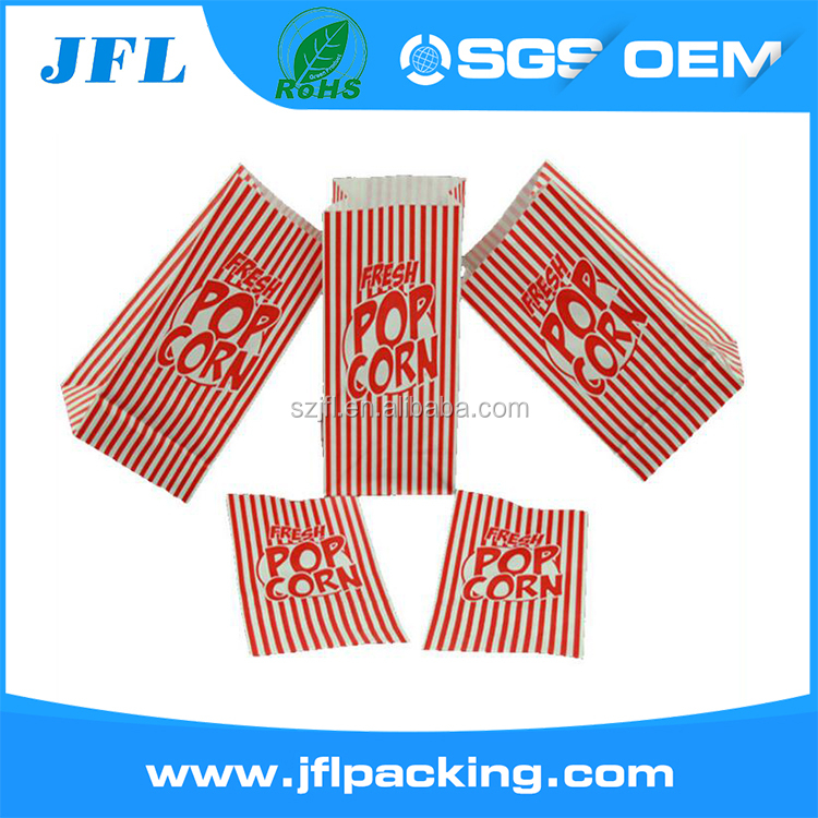 FDA paper party bag sealable packaging for popcorn