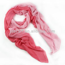 graduated color scarf bamboo scarf (SDB-001 pink) color gradient scarf