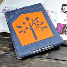 Cowboy style denim covered stand case for ipad air 9.7 laptop OEM designed case