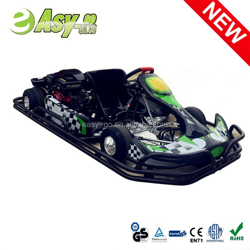 Easy-go hot 200cc/270cc 4 wheel racing go kart manufacturers usa with steel safety bumper pass CE certificate