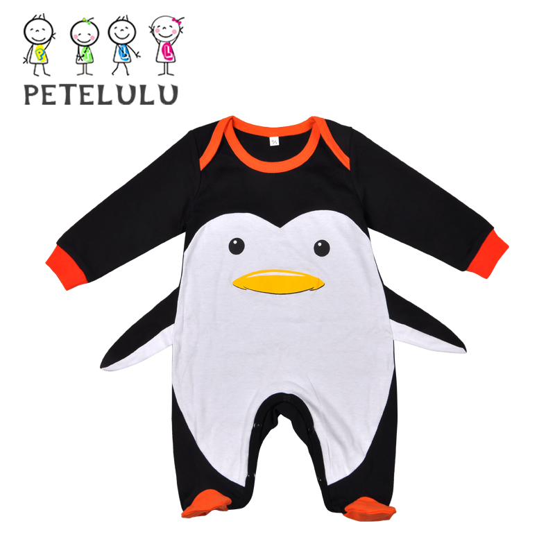 Summer Soft Kids Wear Hot Sale High Quality Infant Clothes L Love Mama Baby Body Long Sleeve Papa Penguin Baby Romper