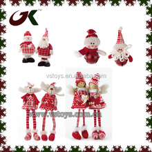 christmas snowman santa standing hanging angels standing