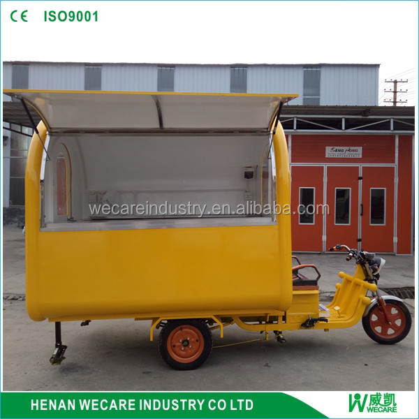 high quality mobile tricycle electric fast food van for sale with CE certificate