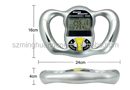 2015 Brand New 1Pcs Silver Health Monitor BMI Meter Handheld Tester Calculator Digital Body Fat Analyzer
