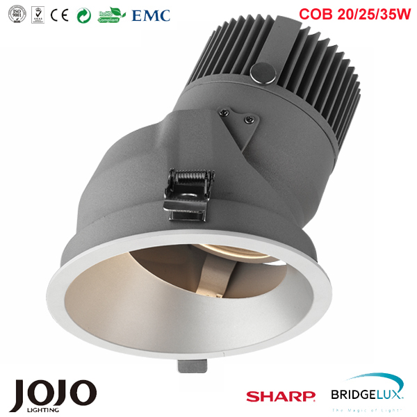 Factory price IP44 Architectural 15W 20W 25W 30W 35W 40W 50W 0-10V dimmable COB led down light