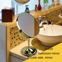 8-inch Double Sided Smart Metal Mirror Bathroom Tool Face Mirror
