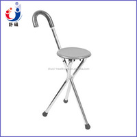 Folding stool medical walking stick with chair