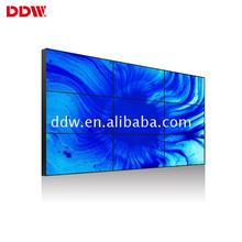 Large size 55 inch narrow bezel wall screen multi tv video led backlight