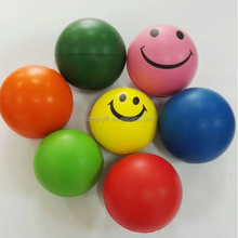 promotional OEM Logo high quality low price round smiley stress squeeze ball