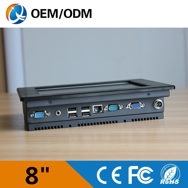 "8"" Black aluminum fanless all in one PC,Intel atom N2600"
