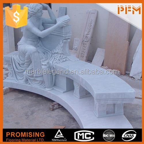 Hotel designs carved natural marble angle statues
