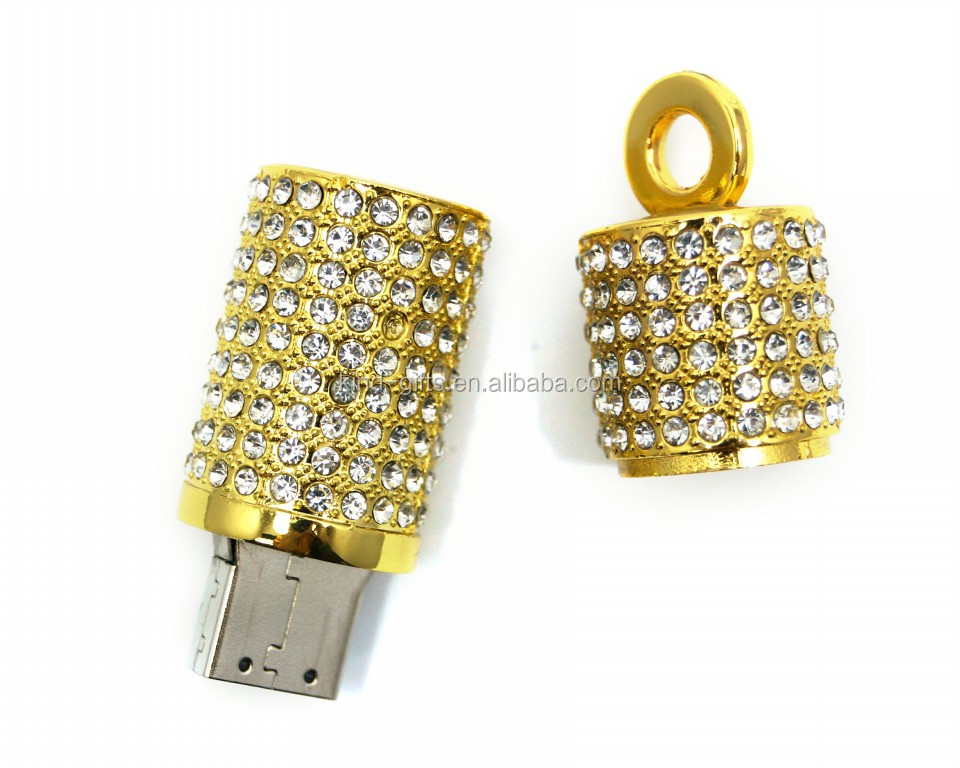 Wholesale Professional Popular Rhinestone Flash Drive Low Cost Crystal Decorative Flash Drives