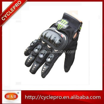 Hot sell 2017 newest monster full finger motorcycle gloves