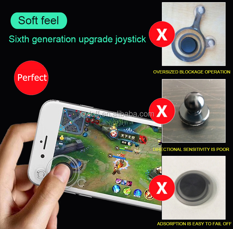 6th generation analog fling android controller gamepad micro mini small smartphone touch screen joystick for mobile phone game