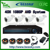 2.0 Megapixels AHD security camera Kit System HD CCTV Camera DVR System 4ch AHD kits simultaneous interpretation system