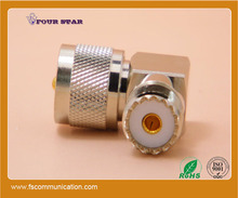 UHF male to UHF female right angle connector rf adapter