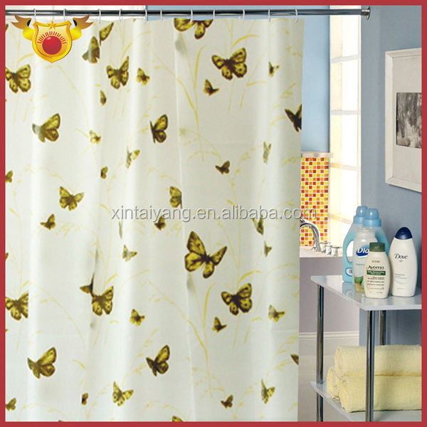 Yellow Butterfly Bath Pe New Model Door Curtain