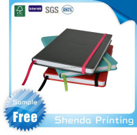 Custom logo Promotion PU Agenda Leather Notebook with elastic band