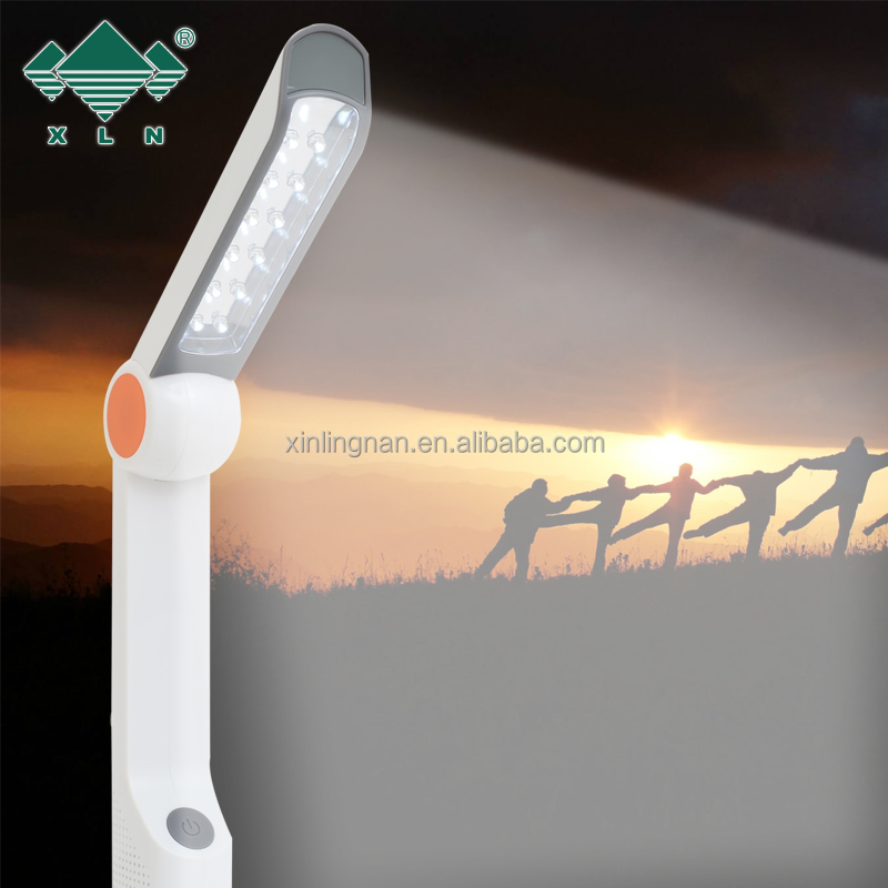 Energy Saving Solar Power Light Lam; foldable cranking led reading lamp flashlihgt radio