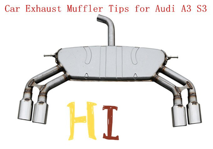 Aftermarket Car Exhaust Muffler Tips for Audi 2013 A3 S3 which in hot sale