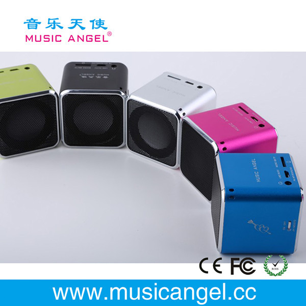 Music Angel TF card FM portable portable ultra thin mini speaker