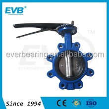 Soft seal butterfly valve centre line