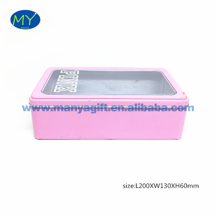 Economic and Efficient rectangle tin gift box of Bottom Price