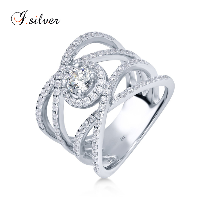 Wholesale anillo antiguo 925 silver de plata de ley maltese CZ Criss Cross rings R500305