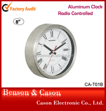 Cason radio control clock metal quartz movement