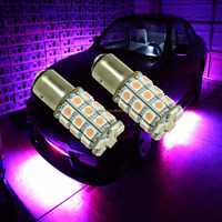 Bay15D P21/5W 30SMD LED 5050 SMD Direction Indicator Light Bulb Lamp Pink Purple