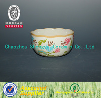 2014 new design ceramic flower bowl
