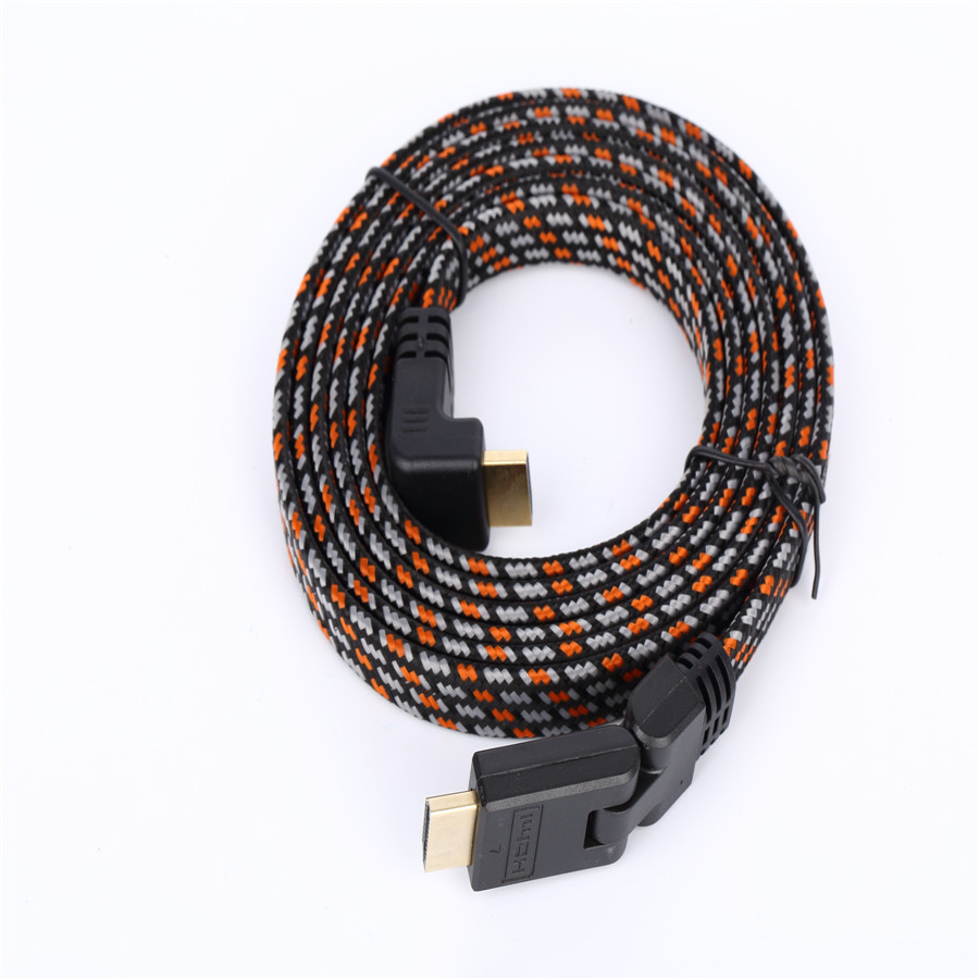 High Speed Full HD 90 Degree Cable For HDTV Home Theater