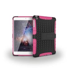 Hybrid High Impact Resistant Rugged Case for iPad pro tyre grain shockproof hybrid kickstand 12.9 inch tablet case