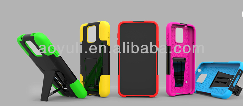hot new products for 2014 phone case for Samsung Galaxy SV/S5, hybird with T-shape cell phone case
