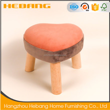 Heart velvet hand wood solid wood removal decorative shoes changing stool