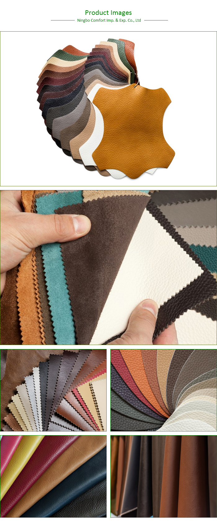 pvc pu synthetic leather stocklot